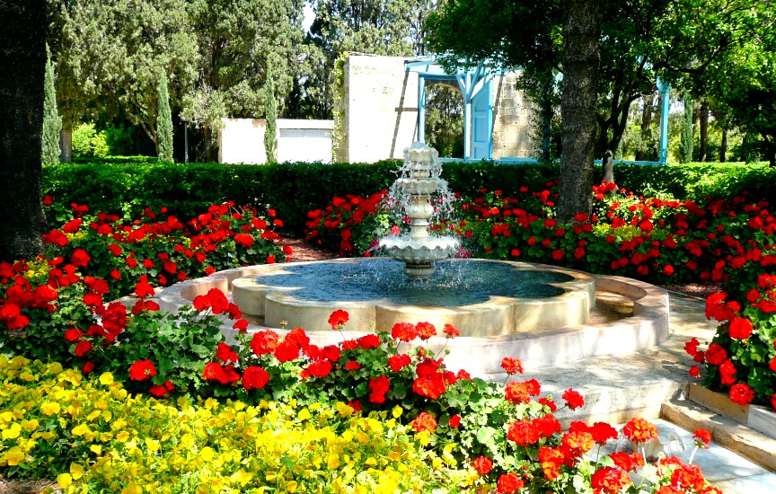 Pictured above is a fountain in the Ridvan Garden, located outside the city of Akka, Israel. (Photo courtesy of Natascha M via Flickr)