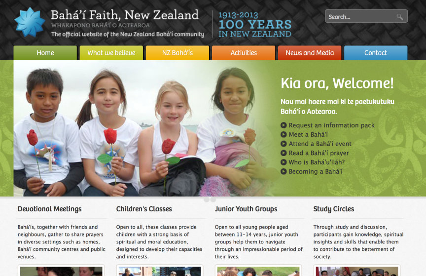 New Zealand Baha'i Website