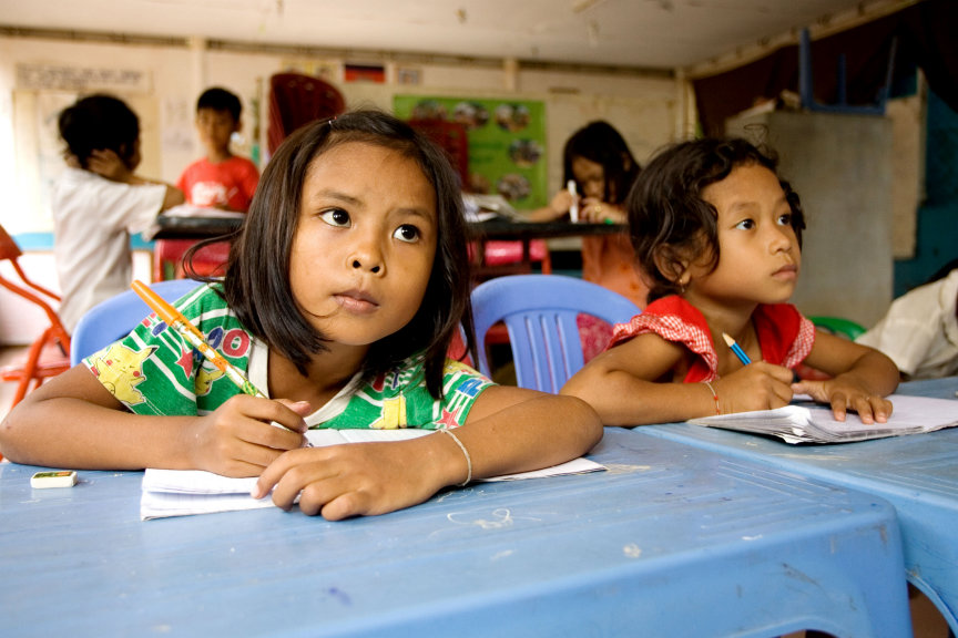 A classroom in Battambang, Cambodia (Photo: Baha'i World Centre)