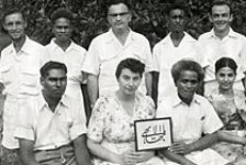 The first Local Spiritual Assembly of Honiara, British Solomon Islands, April 1957. (Photo: Baha'i World Centre)