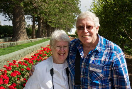 Earl Redman and his wife, Sharon Redman, on a recent pilgrimage.