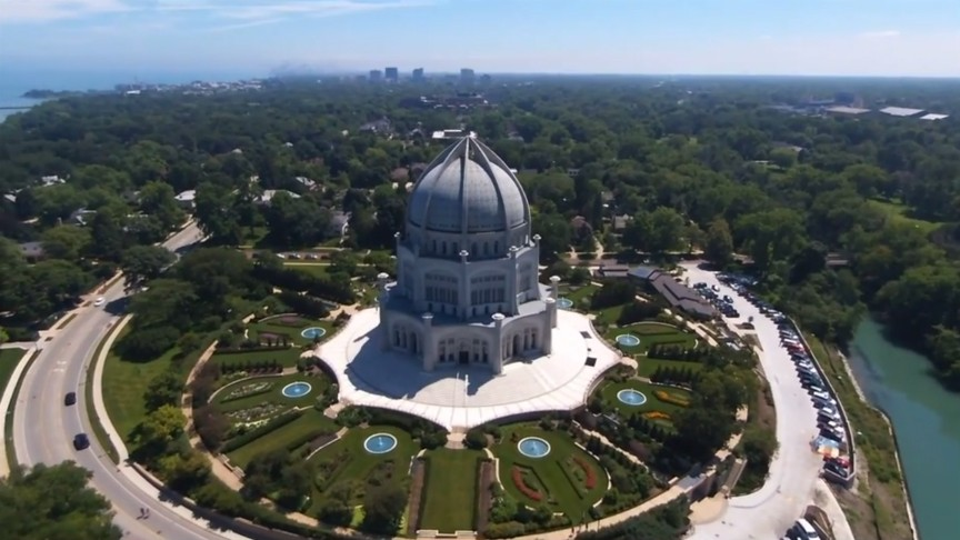 Chicago Baha'i Temple Drone footage