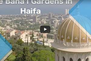 The Baha'i Gardens in Haifa (drone-video)
