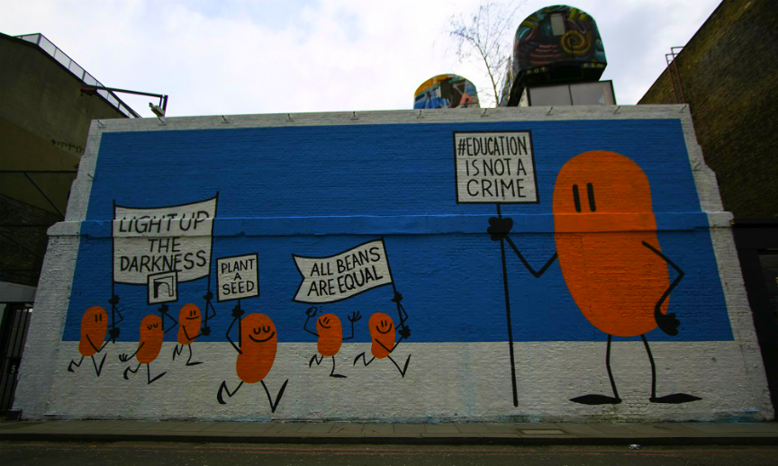 Orange Beans by Dave The Chimp in London 864x518