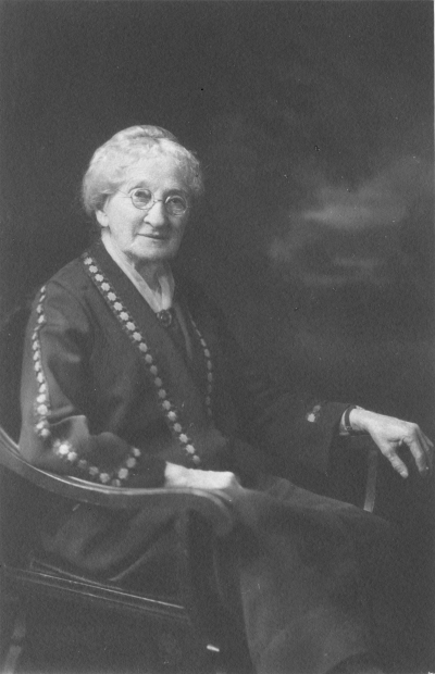 "Ellen Tuller Beecher known affectionately as ""Mother Beecher"" (1840-1932)"