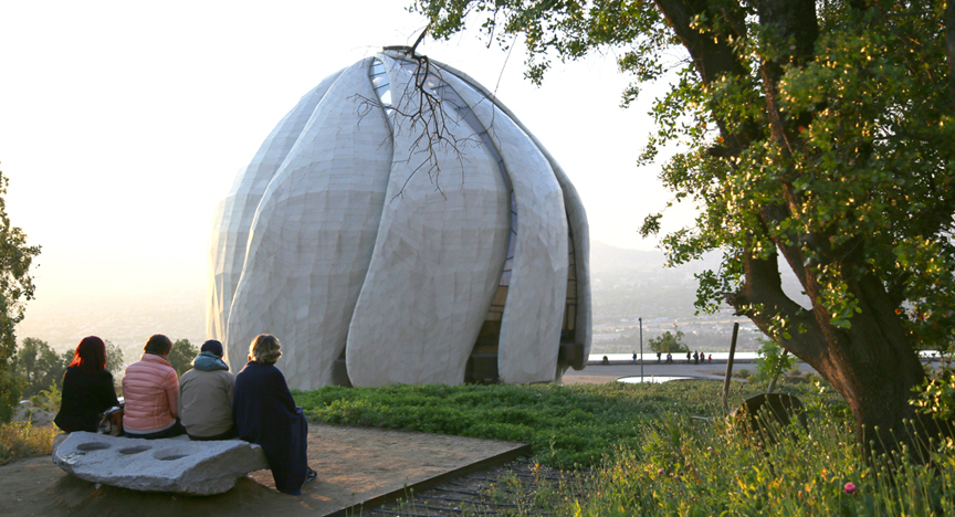 Visitors at the House of Worship in Santiago, Chile. (Photo: courtesy of the Baha'i World News Service)