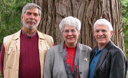 From left to right, Virtues Project founders, Dr. Dan Popov, Linda Kavelin-Popov and John Kavelin.