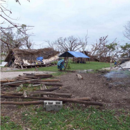 The razed village of Nakayelo on Tanna Island, Vanuatu.