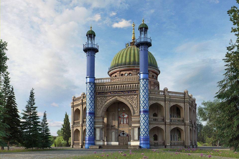 A 3D Rendering of The House of Worship