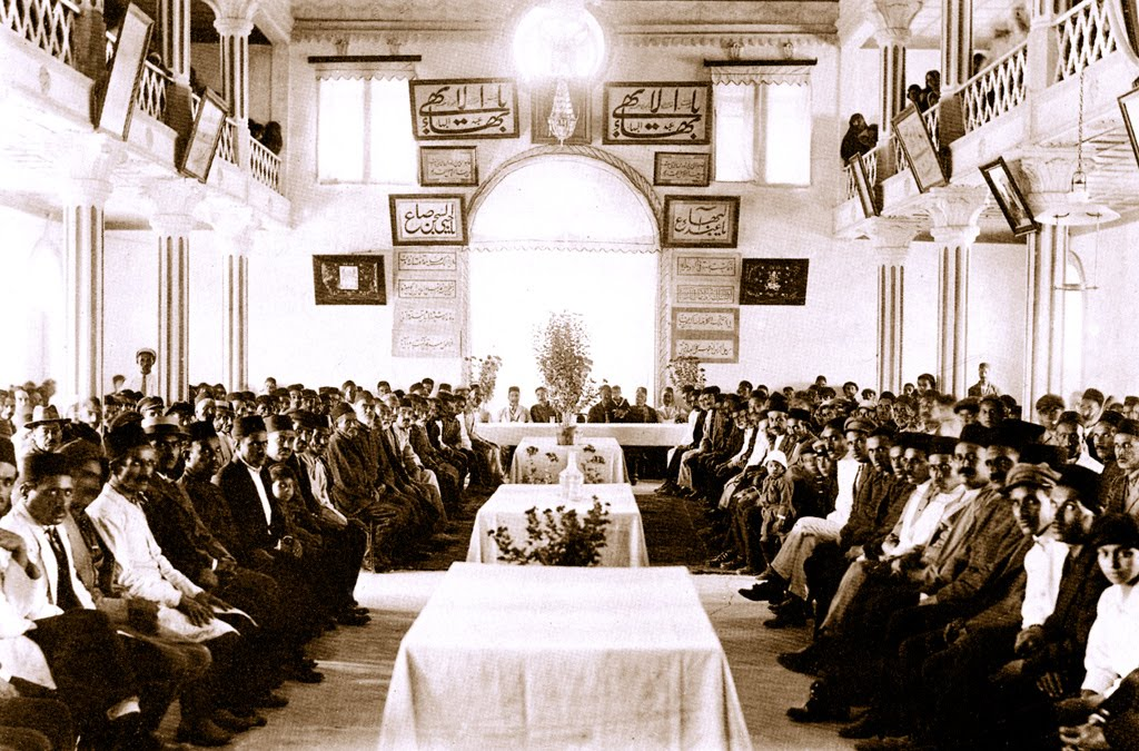 The Baha'is of Ashkhabad gathered in the House of Worship.