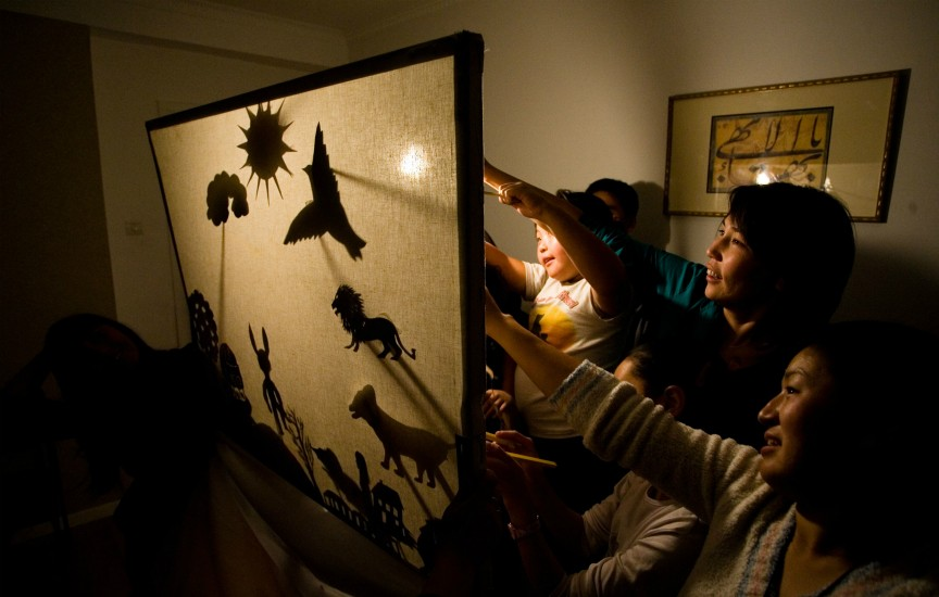 Shadow puppet show in Ulaanbaatar, Mongolia. (Photo: Baha'i World Centre)